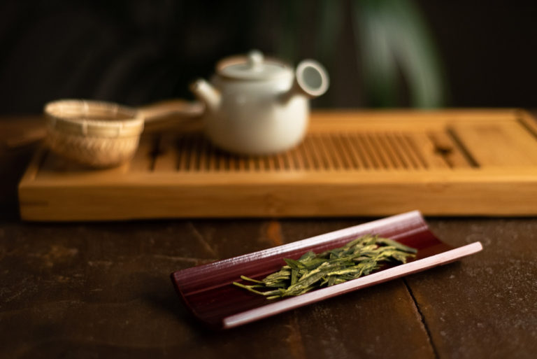 Tè verde e teiera