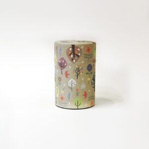 Scatola per conservare il tè rivestita in carta washi decorata con foglie