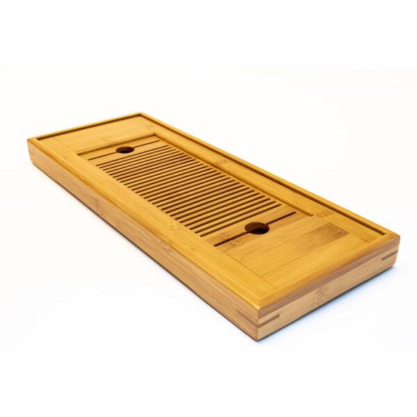 Vassoio in bambù per la preparazione del tè secondo il gong fu cha