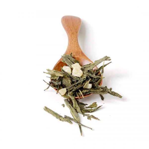 foglie di tè verde e ananas