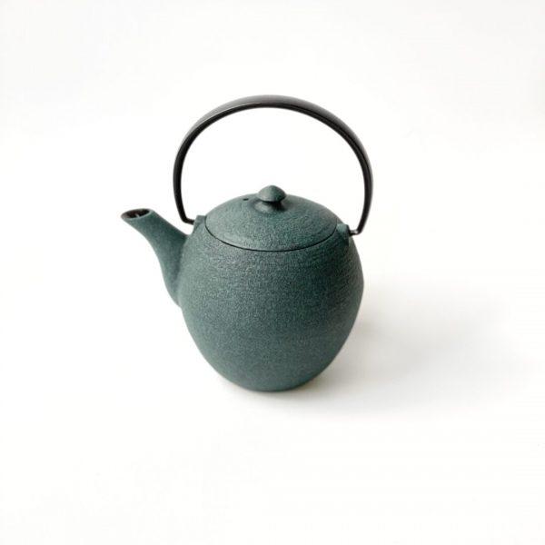 Teiera giapponese in ghisa verde scuro da 300 ml