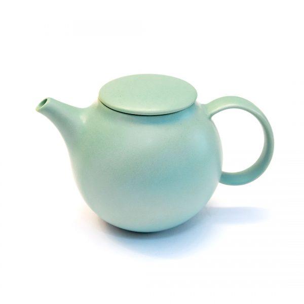 Teiera giapponese in ceramica moss green
