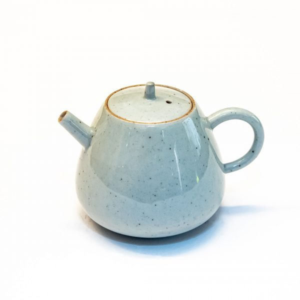 Teiera da tè in porcellana celeste